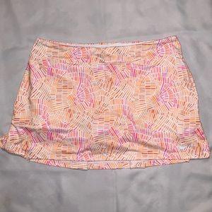 NIKE Dri fit golf skort XL orange, pink, and white